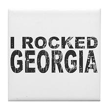 I Rocked Georgia Tile Coaster