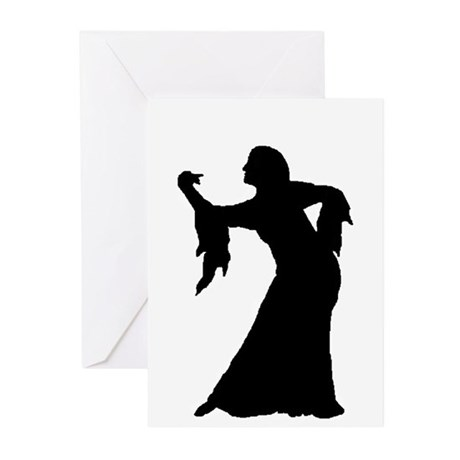 Leaning Silhouette Greeting Cards (Pk of 10)