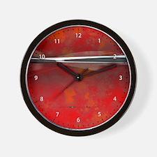 Zest + Zen in Red Wall Clock