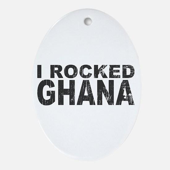 I Rocked Ghana Oval Ornament