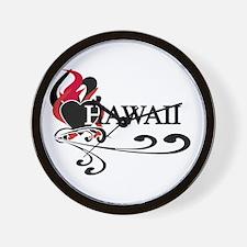Heart Hawaii Wall Clock