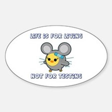 Soychick Against Animal Testing Oval Decal