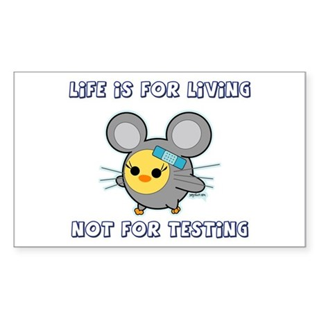 Soychick Against Animal Testing Sticker (Rectangle
