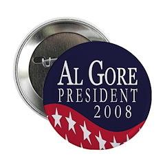Al Gore President 2008 Button
