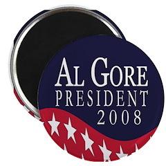Al Gore 2008 (10 campaign magnets)
