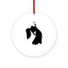 Cane Dancer Silhouette Keepsake (Round)