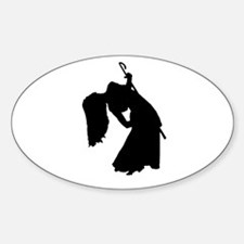 Cane Dancer Silhouette Oval Decal