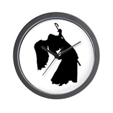 Cane Dancer Silhouette Wall Clock