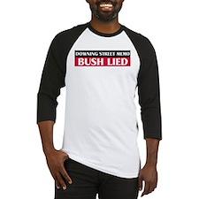 Downing Street Memo: Bush Lie Baseball Jersey