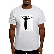 Sword Balance Head Silhouette Ash Grey T-Shirt
