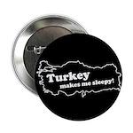 "Turkey Makes Me Sleepy! 2.25"" Button (10 pack)"