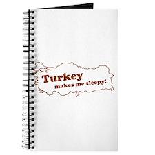 Turkey Makes Me Sleepy! Journal