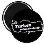 "Turkey Makes Me Sleepy! 2.25"" Magnet (10 pack)"