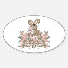 Buns & Roses Oval Decal