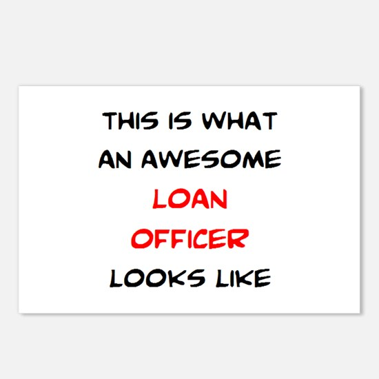 awesome loan officer Postcards (Package of 8)