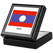 Laos Laotian Flag Keepsake Box