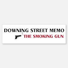 Smoking Gun - Downing Street Bumper Bumper Bumper Sticker