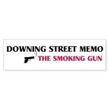 Smoking Gun - Downing Street Bumper Bumper Sticker