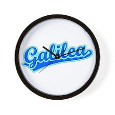 Retro Galilea (Blue) Wall Clock