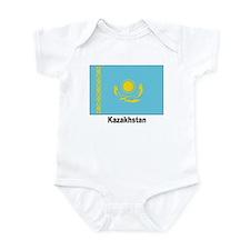 Kazakhstan Flag Infant Creeper