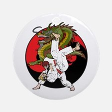 Dragon Karate Ornament (Round)