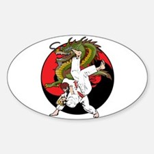 Dragon Karate Oval Decal