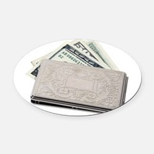 SilverMoneyHolder042810.png Oval Car Magnet