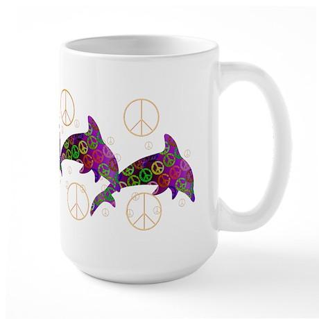 Dolphin Peace - Wednesday Large Mug