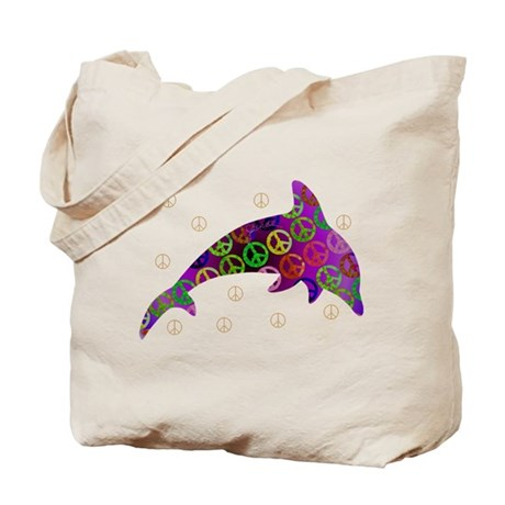 Dolphin Peace - Wednesday Tote Bag