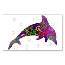 Dolphin Peace - Wednesday Rectangle Decal