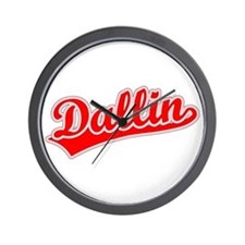 Retro Dallin (Red) Wall Clock