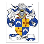 Lerma Family Crest Small Poster