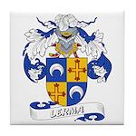 Lerma Family Crest Tile Coaster