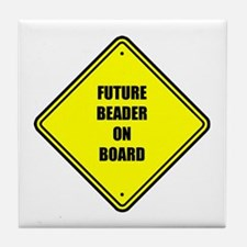 Maternity - Future Beader on Tile Coaster