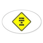 Maternity - Future Beader on Oval Sticker (10 pk)