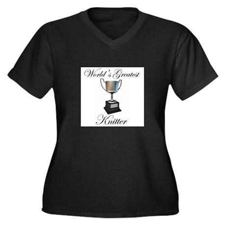 World's Greatest Knitter Women's Plus Size V-Neck