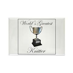 World's Greatest Knitter Rectangle Magnet