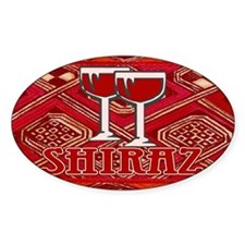Shiraz Sign Oval Decal