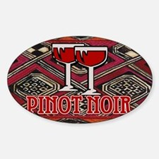 Pinot Noir Sign Oval Decal