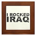 I Rocked Iraq Framed Tile