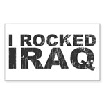 I Rocked Iraq Rectangle Sticker