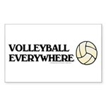 TOP Volleyball Everywhere Rectangle Sticker 10 pk