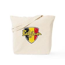 Belgium distressed Flag Tote Bag