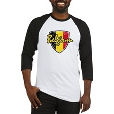Belgium distressed Flag Baseball Jersey