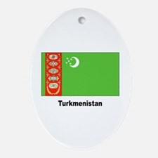 Turkmenistan Flag Keepsake (Oval)