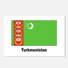 Turkmenistan Flag Postcards (Package of 8)
