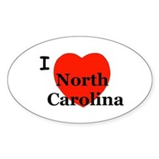 I Love N. Carolina! Oval Decal