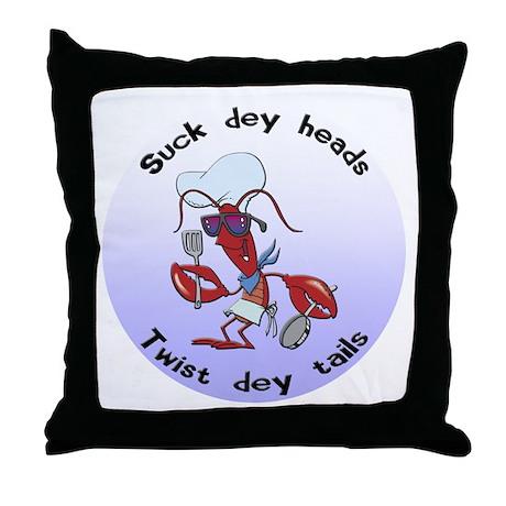 Cajun Crawfish Throw Pillow