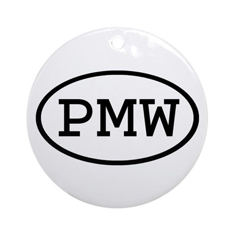 PMW Oval Ornament (Round)