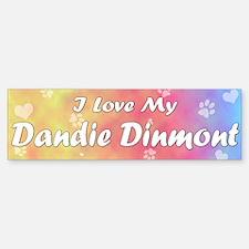 Pastel Love Dandie Dinmont Terrier Bumper Bumper Bumper Sticker
